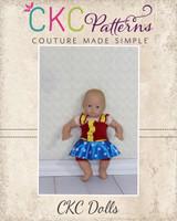 Tyra's and Skylie's Dancewear Doll Size PDF Pattern