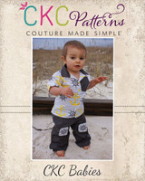 Noah's Baby Knee Patch Pants PDF Pattern