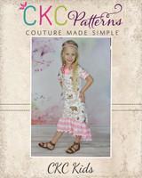 Lyric's Knit High Low Ruffle Dress and Tunic Sizes 6/12m to 15/16 Kids PDF Pattern