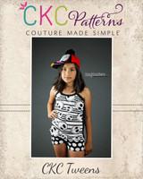 Callie's Cami and Boy Shorts Set Sizes 6/12m to 15/16 Kids PDF Pattern