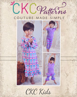 Tansy's Knit Pajamas Sizes 6/12m to 15/16 Kids PDF Pattern