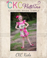 Karrington's Summer Romper Sizes 6/12m to 8 Kids PDF Pattern