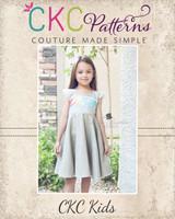 Frenchy's Fifties Flair Dress and Peplum Sizes 6/12m to 8 Kids PDF Pattern