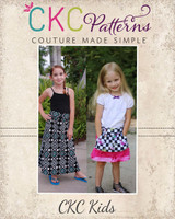 Nevaeh's Knit A-Line Pocket Skirt Sizes NB to 15/16 Kids and Dolls PDF Pattern