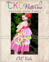 Blair's Bustled Knot Dress Sizes 12/18m to 6 Kids and Dolls PDF Pattern