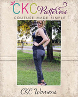 Priscilla's Ruched or Cuffed Leggings Sizes XS to XL Adults PDF Pattern