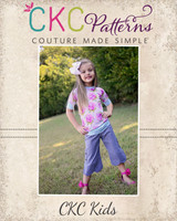 Harleigh's Scalloped Capris and Pants Sizes NB to 15/16 Kids and Dolls PDF Pattern