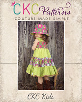 Brooklyn's Tiered Sundress Sizes 6/12m to 15/16 Kids and Dolls PDF Pattern