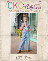 Regan's Tailored Tie-neck Romper Sizes 6/12m to 8 Kids PDF Pattern