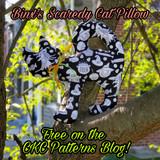 CKC's Spooky Side:  Binx's Scaredy Cat Pillow