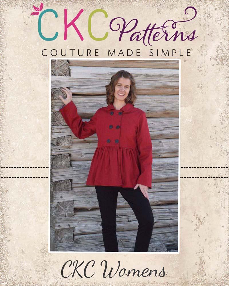 Oakley's Women Pea Coat Sizes XS to XL Adults PDF Pattern