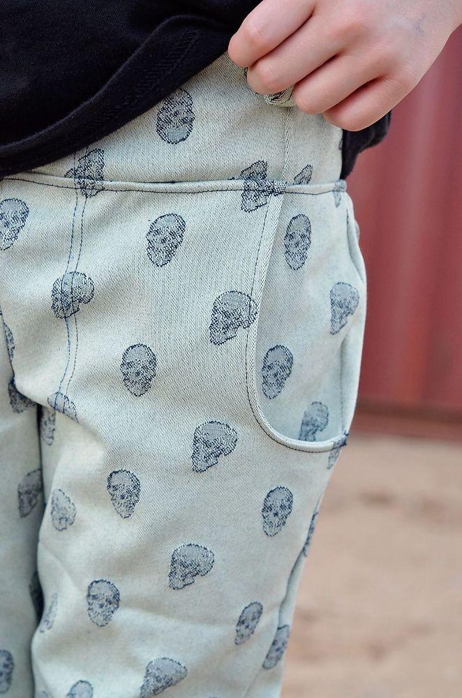 Ryker's Woven Skinny Pants Sizes 2T to 14 Kids PDF Pattern