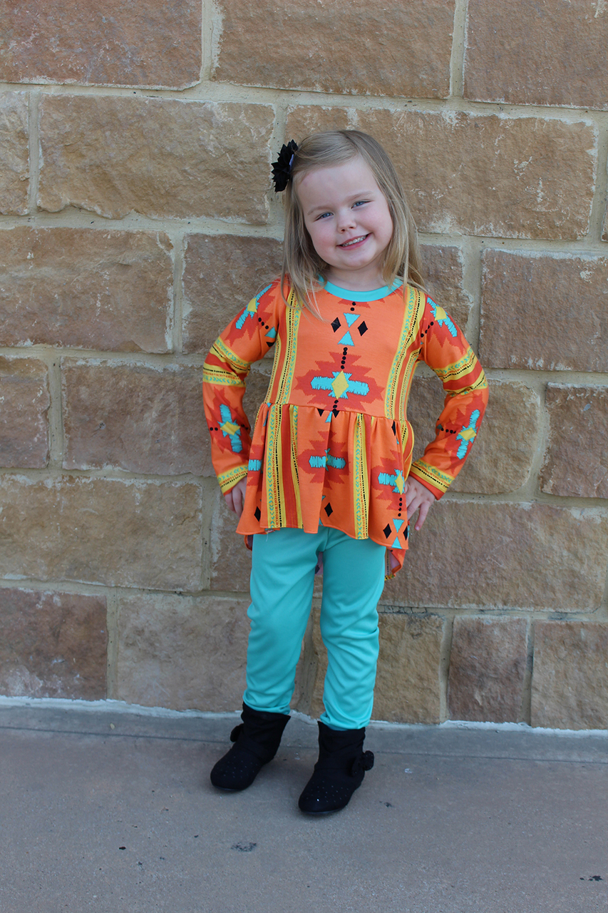 Aleya's Pointed High-Low Dress and Top Sizes 6/12m to 15/16 Kids and Dolls PDF Pattern