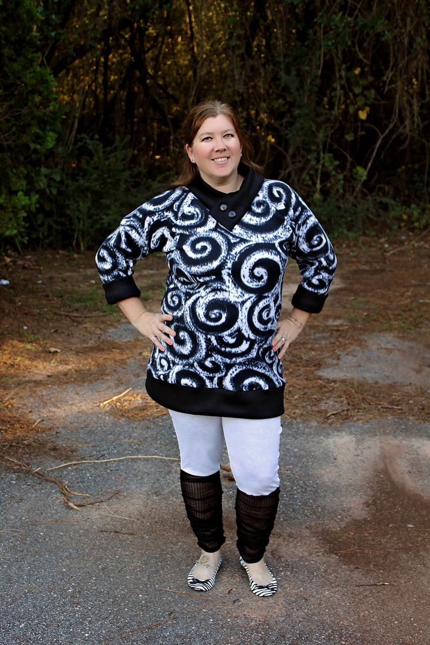 Sheridan's Sweater Dress and Top Sizes XS to XL Adults PDF Pattern