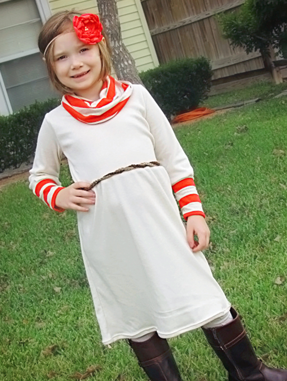 Kamry's Cowl Neck Dress and Top Sizes 2T to 15/16 Kids PDF Pattern