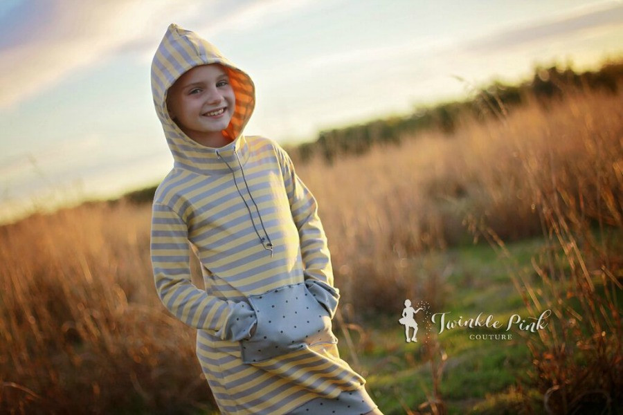Haven's Hoodie Dress Sizes 6/12m to 15/16 Kids PDF Pattern