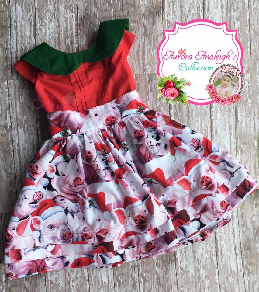 Ruthie's Retro Pleated Party Dress Sizes 6/12m to 15/16 Kids PDF Pattern