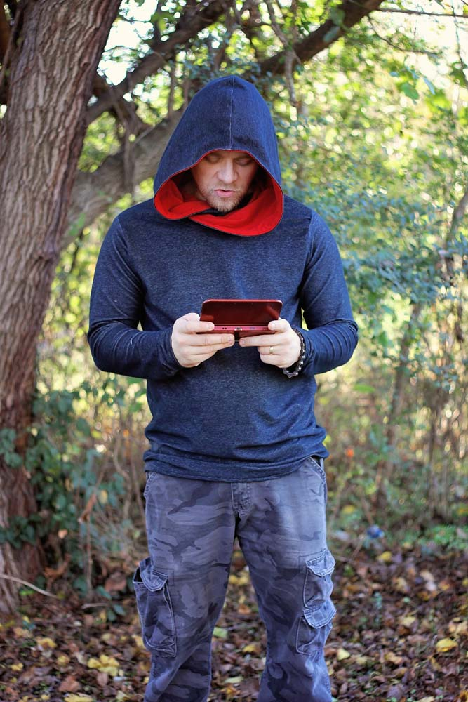 Hunter's Cowl Neck Hoodie Sizes XS to 5X Adults PDF Pattern