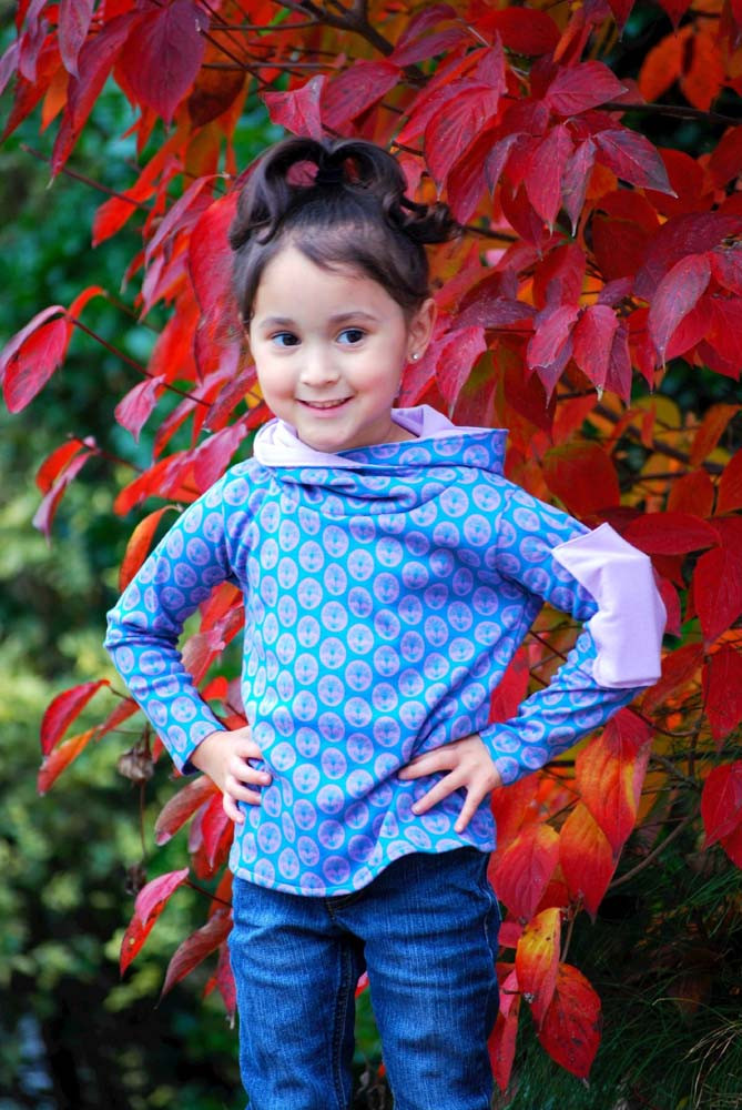 Hunter's Cowl Neck Hoodie Sizes 6/12m to 15/16 Kids PDF Pattern