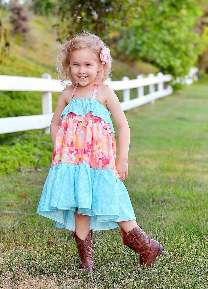 Cora's Tiered Top, Sun Dress and Maxi Dress Sizes NB to 15/16 Kids PDF Pattern