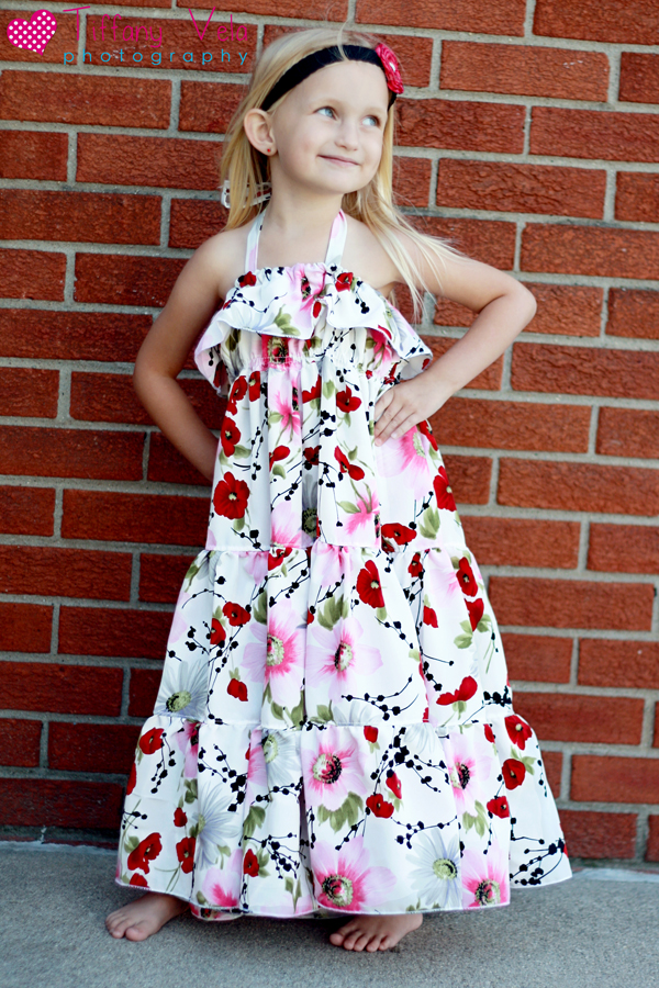 Cora's Tiered Top, Sun Dress and Maxi Dress Sizes NB to 15/16 Kids and Dolls PDF Pattern