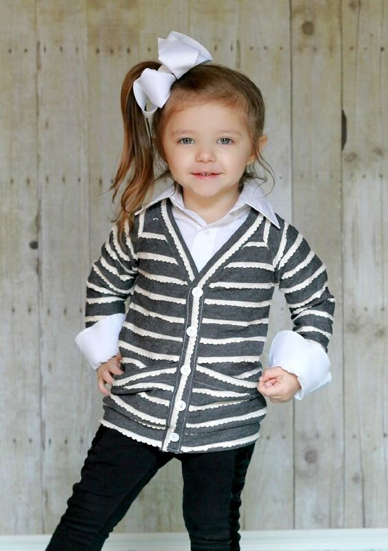 Emmalyn's Cardigan Sizes NB to 8 Kids and Dolls PDF Pattern
