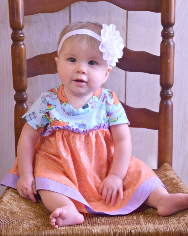 Audrey's Knit and Woven Dress and Top Sizes NB to 8 Kids and Dolls PDF Pattern
