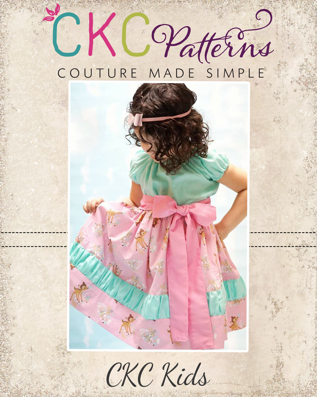 Callahan's Ruched Stripwork Peasant Dress Sizes NB to 15/16 Kids PDF Pattern