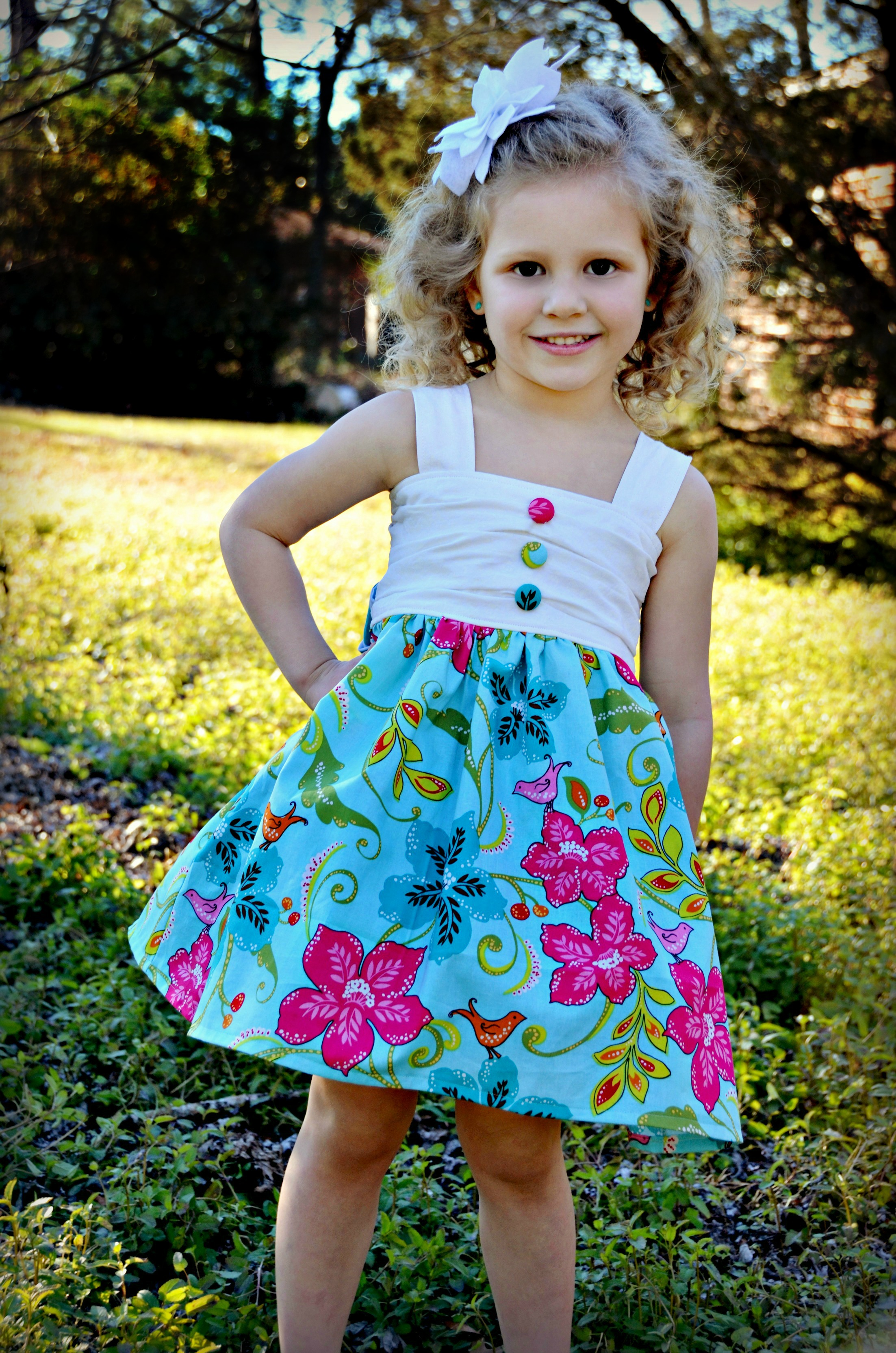 Maxine's Top, Dress, and Maxi NB to 15/16 Kids and Dolls PDF Pattern