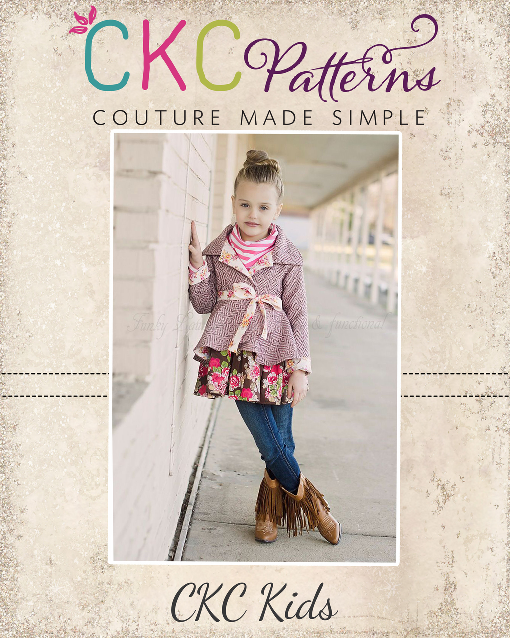 Bristol's Reversible High-Low Jacket Sizes 6/12m to 14 Kids and Dolls PDF Pattern