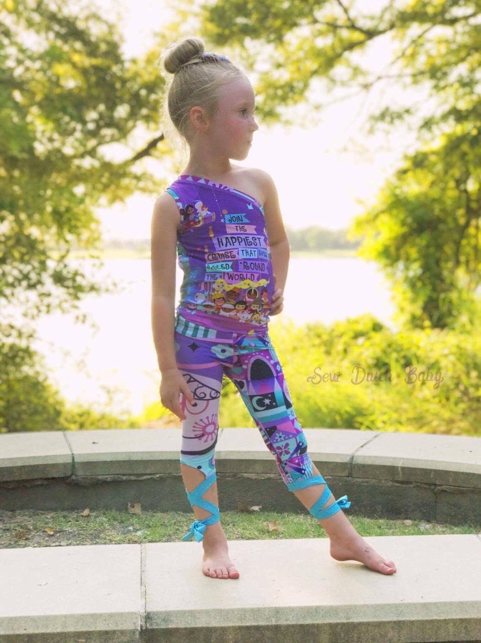 Carmen's Dance Capris Sizes 2T to 15/16 Kids  PDF Pattern