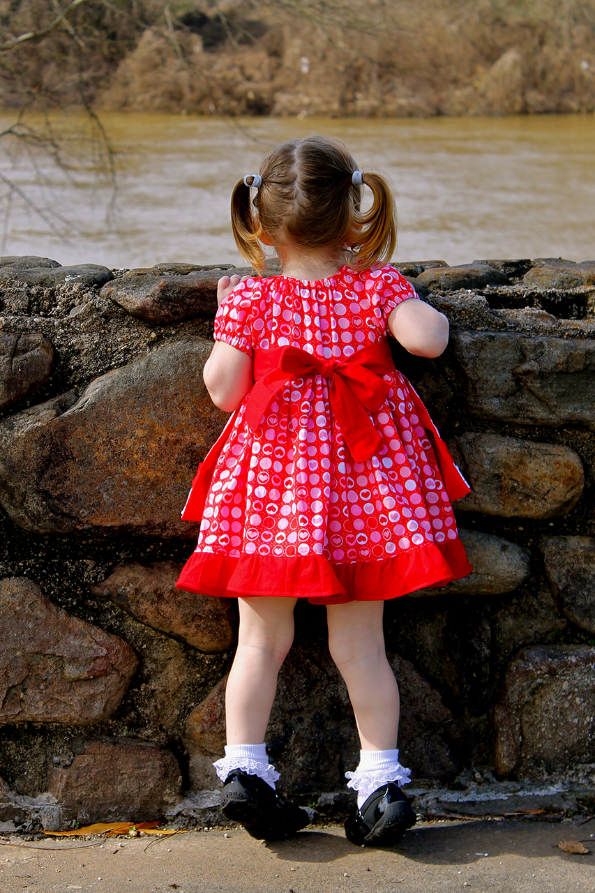 Embry's Apron Peasant Dress Sizes NB to 8 Kids and Dolls PDF Pattern