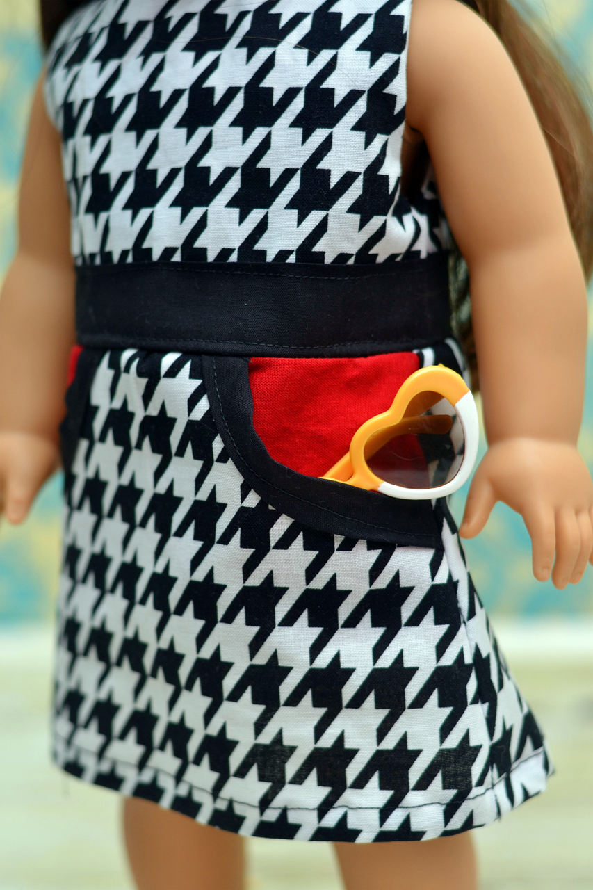 Jackie's Oh So Retro Pocket Dress Sizes 2T to 15/16 Kids and Doll PDF Pattern