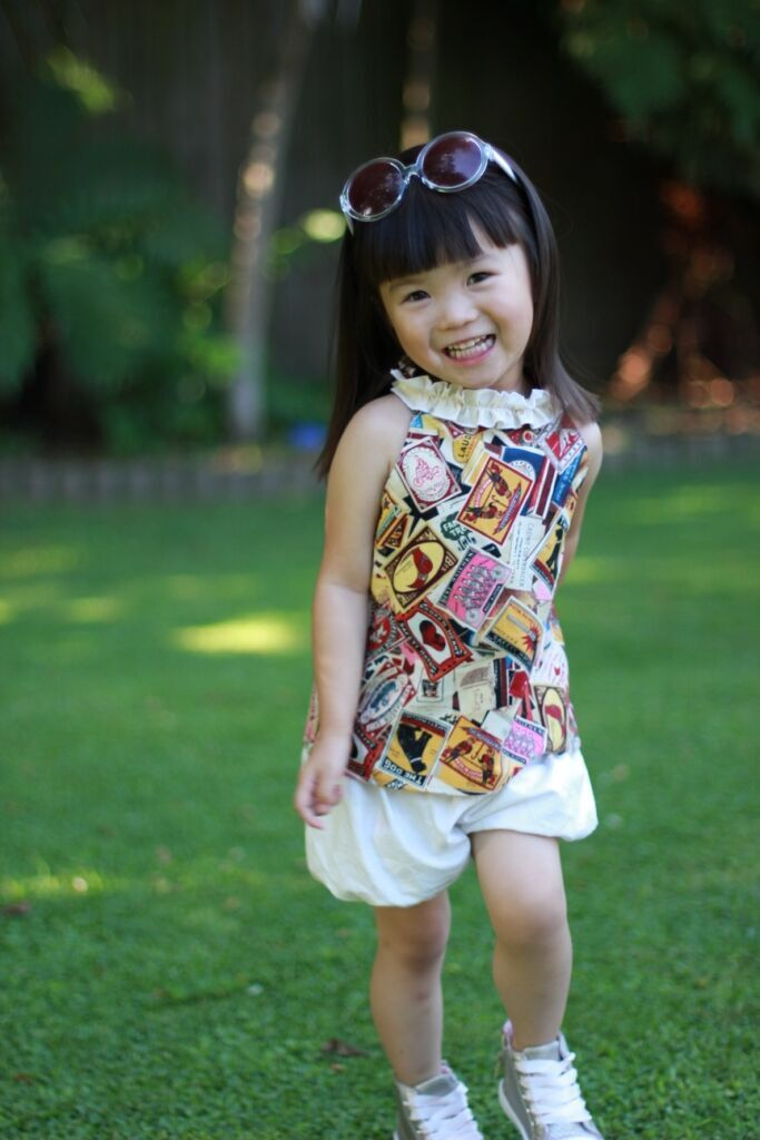 Nora's Ruffled Neck A-line Top, Tunic, and Dress Sizes 6/12m to 15/16 Kids and Dolls PDF Patterns
