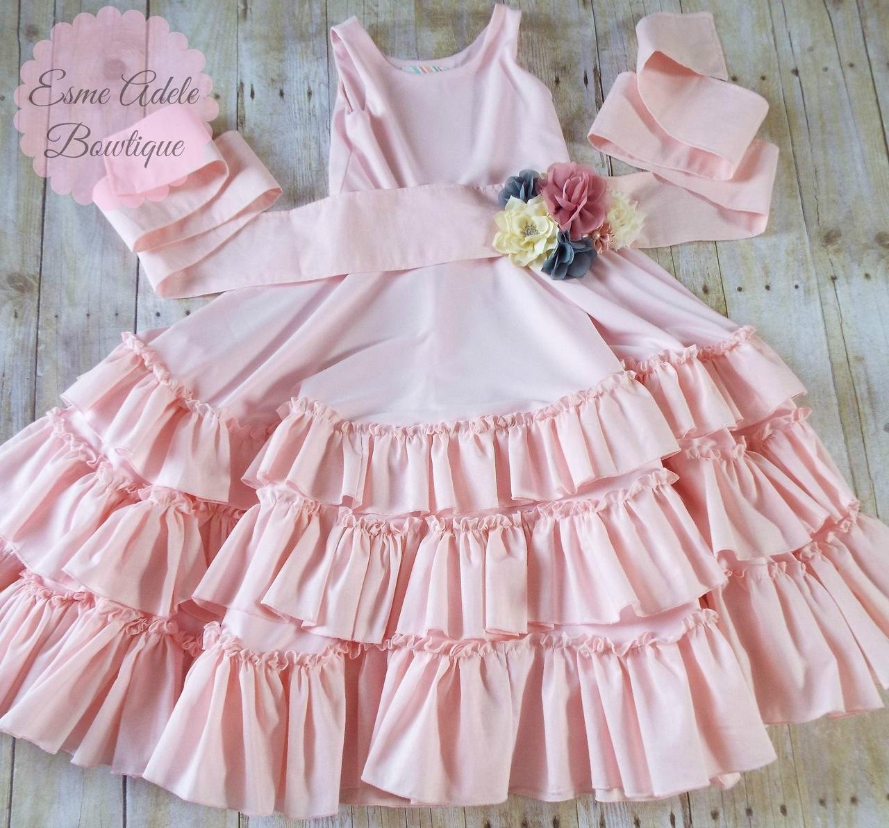 Alejandra's Ruffled Maxi Dress Sizes 6/12m to 8 Kids PDF Pattern