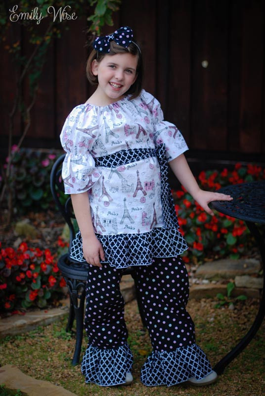 Felicity's Simple Peasant Top Sizes 6/12m to 15/16 Kids and Dolls PDF Pattern