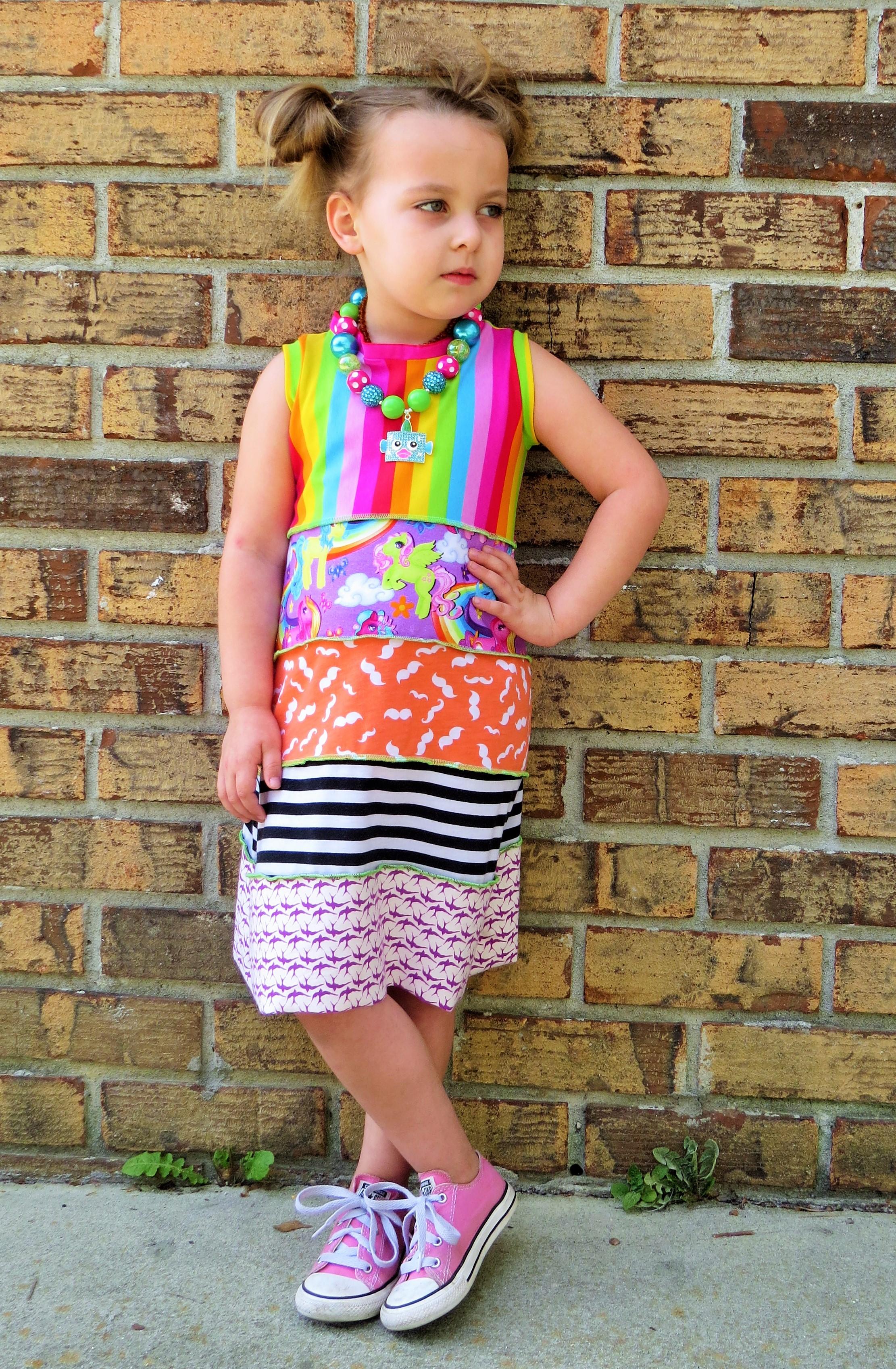 Nadeen's Knit Dress Sizes 6/12m to 8 Kids PDF Pattern
