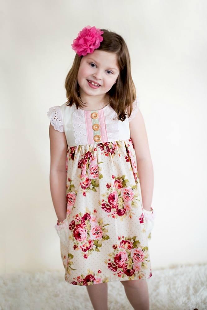 Bree's Blissful Pocket Top and Dress Sizes 6/12m to 8 Kids PDF Pattern