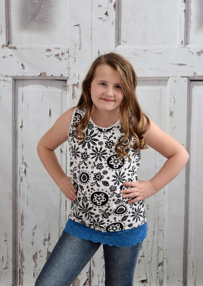 Leslie's Lace-Option Layering Tank Sizes 6/12m to 15/16 Kids and Dolls PDF Pattern