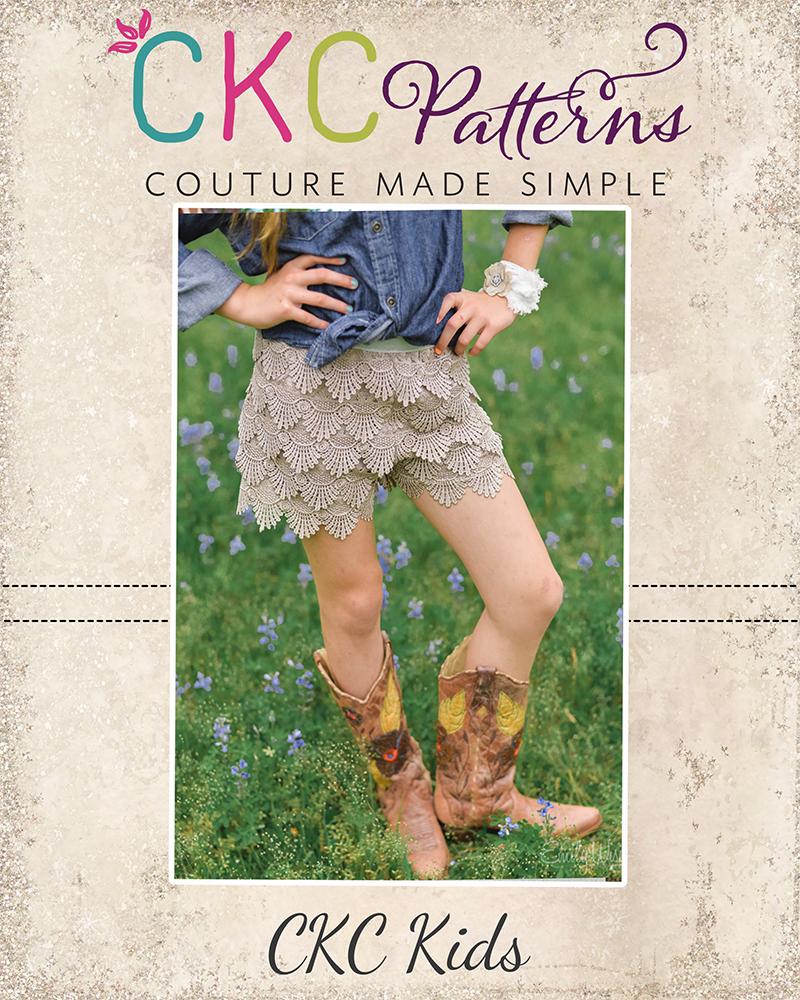 Gemma's Lace Shorts Sizes NB to 15/16 Kids PDF Pattern