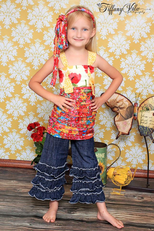 Hailey's Triple Ruffle Pants and Capris Sizes 6/12m to 8 Kids PDF Pattern