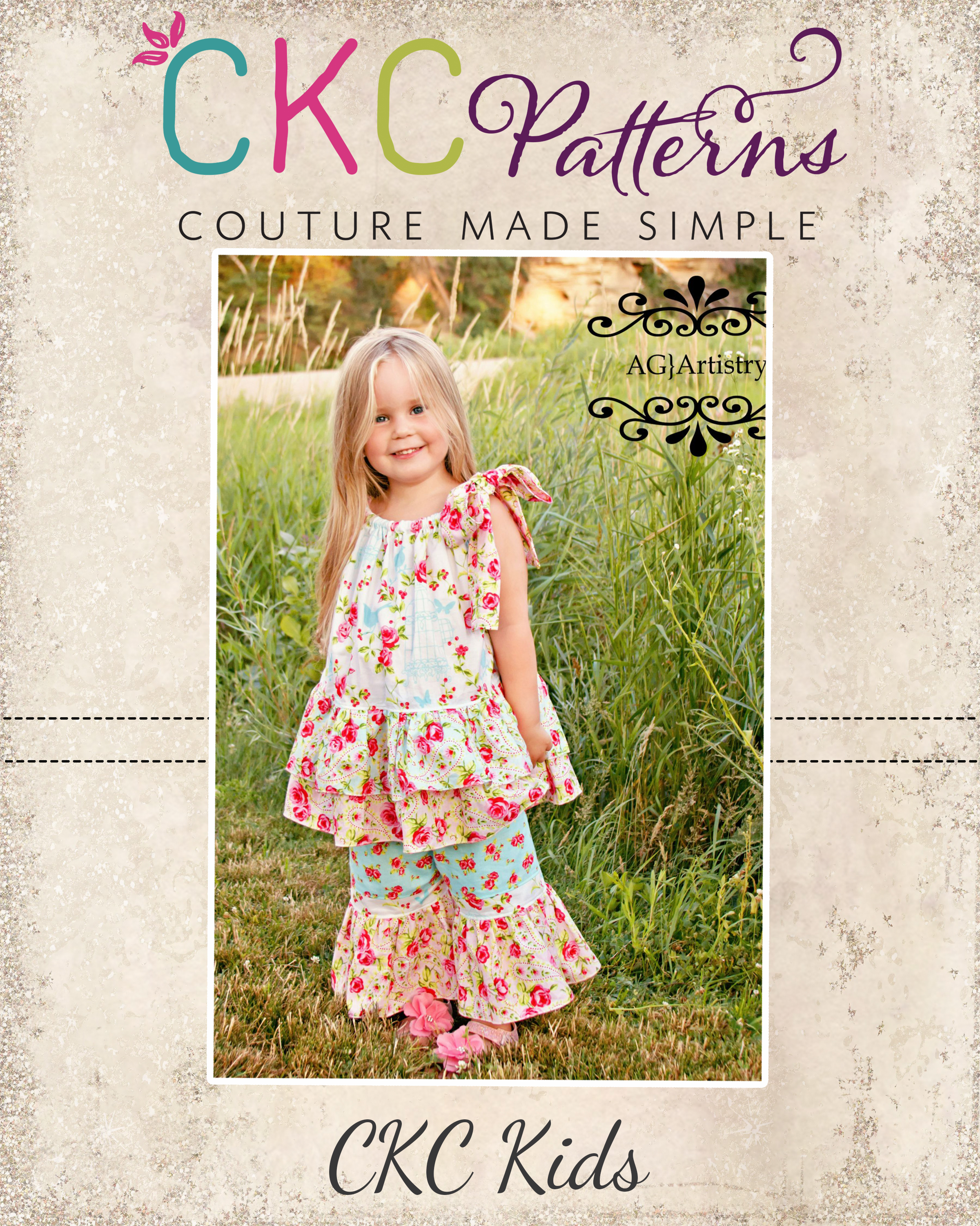 Harper's Pillowcase Ruffle Top and Dress Sizes NB to 8 Kids and Dolls PDF Pattern