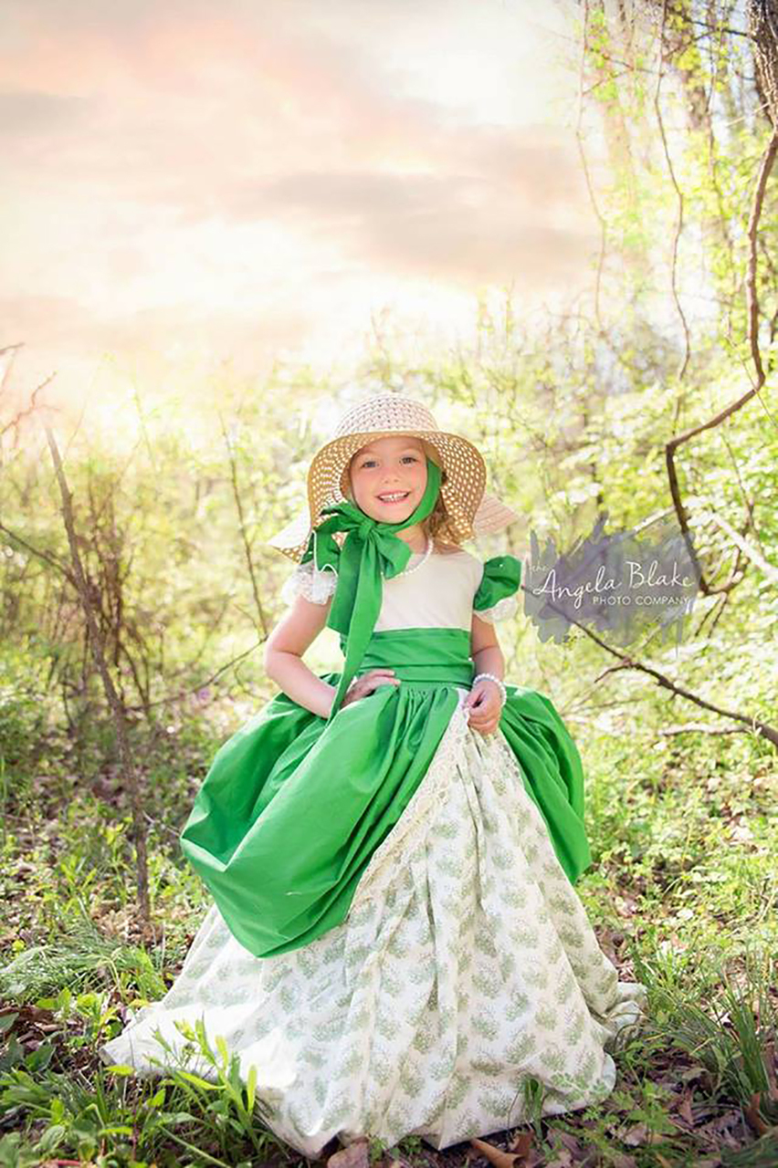 Evangeline's Elegant Ballgown Sizes 6/12m to 8 Kids PDF Pattern
