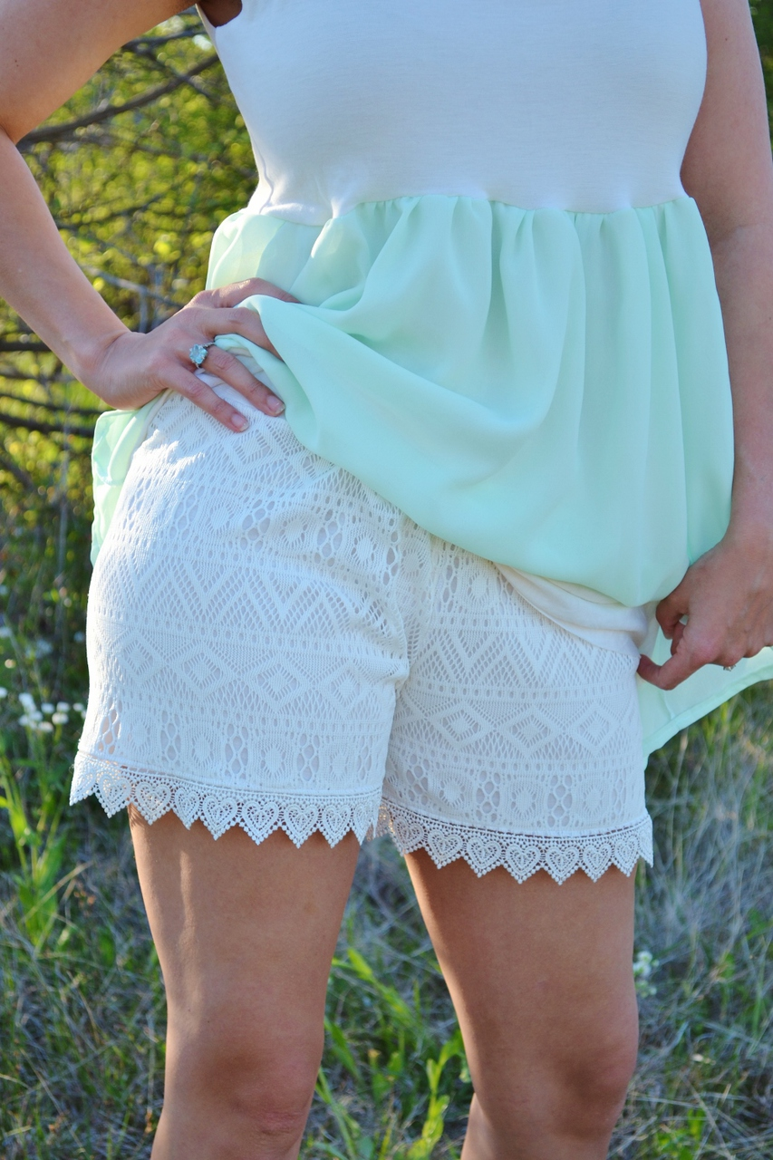 Unity's Lace Overlay Knit Shorts Sizes XS to XL Adults PDF Pattern