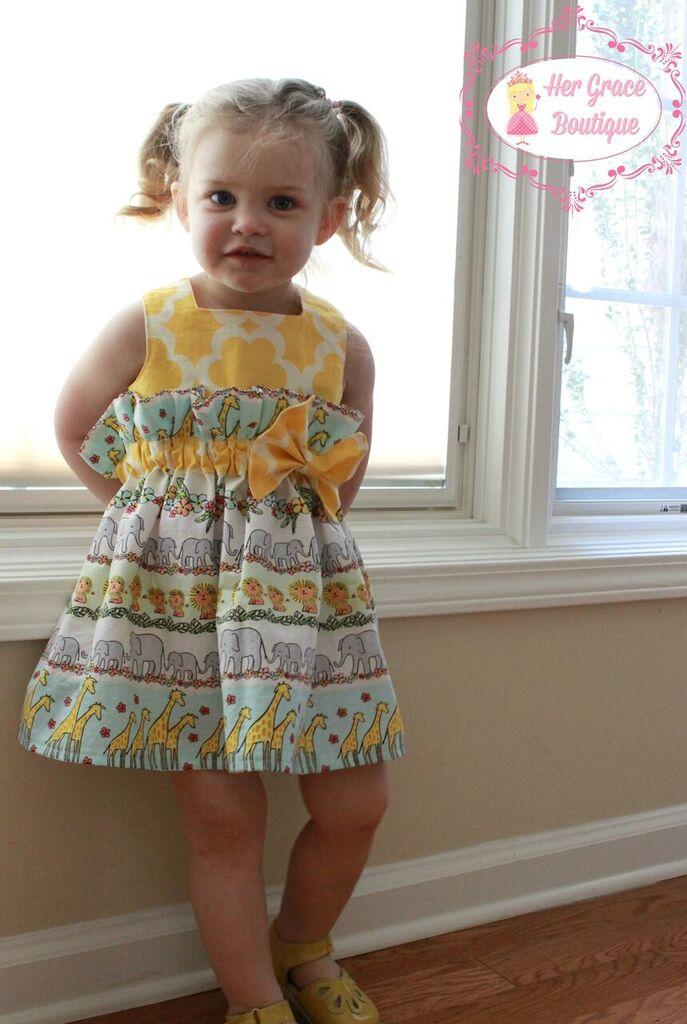Joslynn's Gathered Dress and Top Sizes NB to 8 Kids PDF Pattern