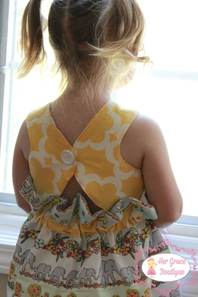 Joslynn's Gathered Dress and Top Sizes NB to 8 Kids and Dolls PDF Pattern