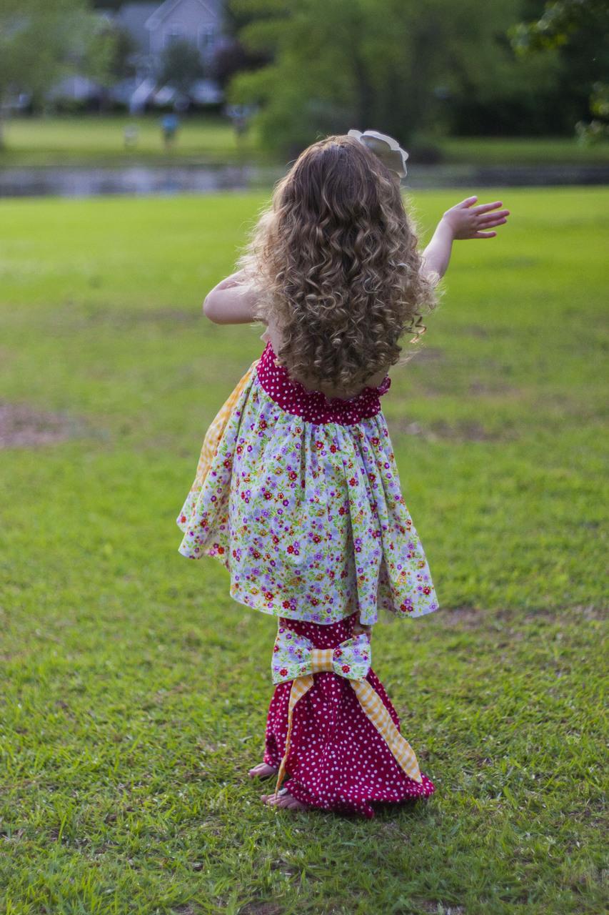 Juniper's Ruffled Bell Bottoms Sizes 6/12m to 8 Kids PDF Pattern