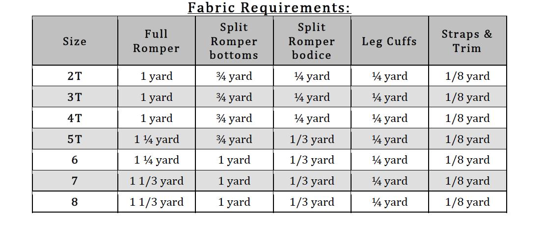 Zyrina's Harem Romper Sizes NB to 8 Kids PDF Pattern