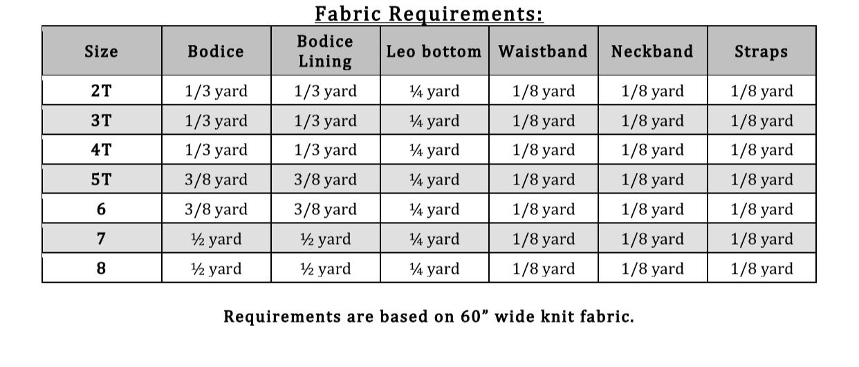 Ingrid's Incredible Leotard Sizes 2T to 15/16 Kids PDF Pattern