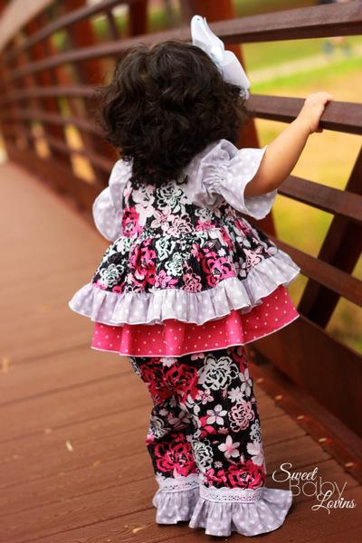 Jenna's Lace Ruffle Pants and Capris Sizes NB to 15/16 Kids and Dolls PDF Pattern